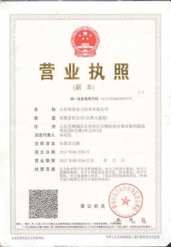 山東明青電力技術有限公司