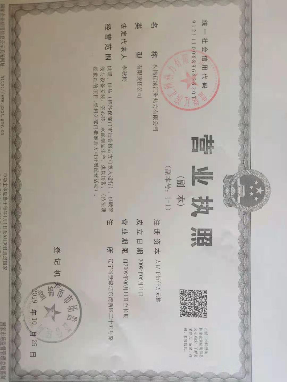 盤錦遼濱匯洲熱力有限公司