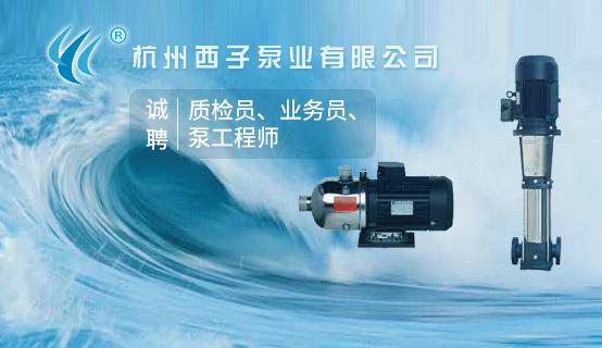 杭州西子泵业有限公司招聘信息