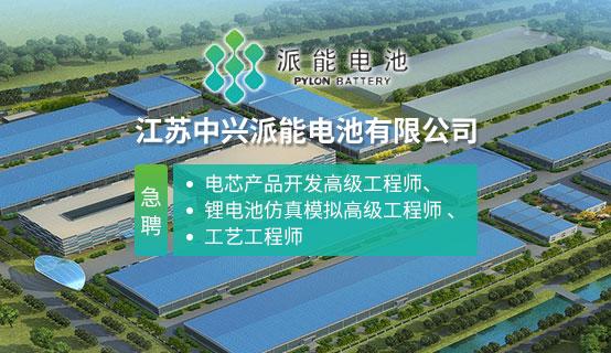 江苏中兴派能电池有限公司招聘信息